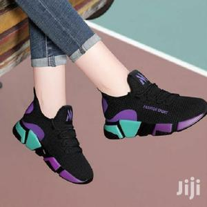 Women's Lace-Up Sneakers - Black,Purple   Shoes for sale in Central Region, Kampala