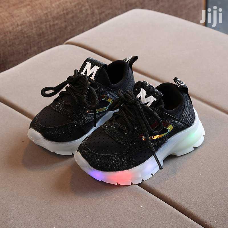 Kids Black Sneakers