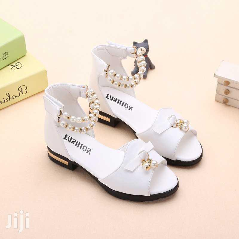Casual Leather White Sandles