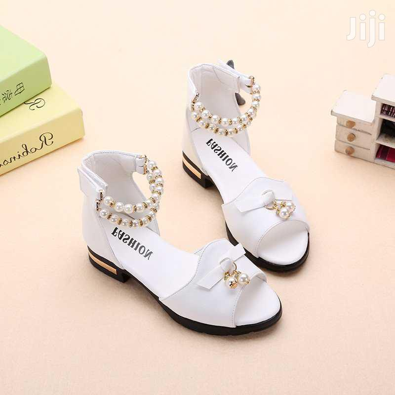 Casual Leather White Sandles | Children's Shoes for sale in Kampala, Central Region, Uganda