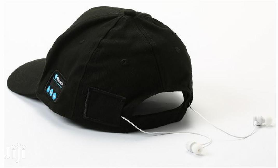 Bluetooth Baseball Cap Headset With Mic - Black
