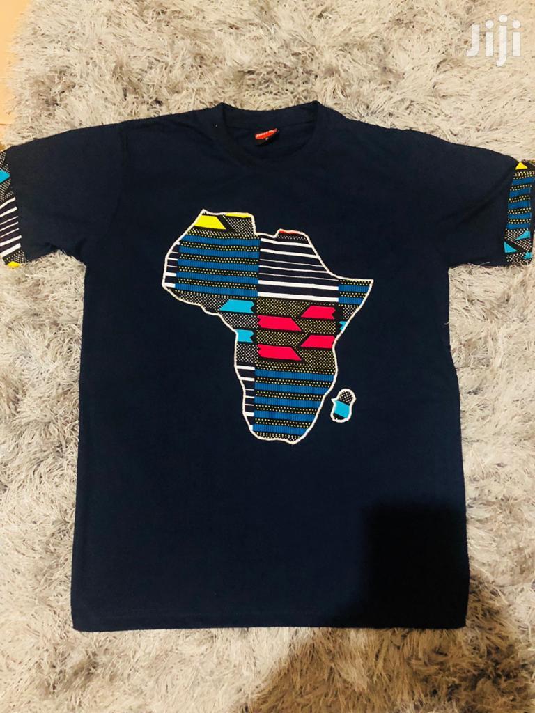 Kitengi Fabric Designed on T Shirts | Clothing for sale in Kampala, Central Region, Uganda