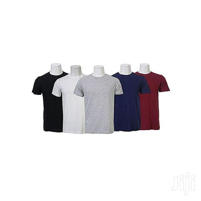 5 in 1 Pack of Men's Round Neck T-Shirts