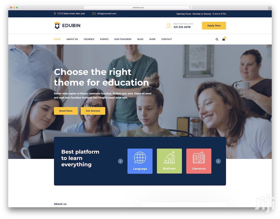 Stunning School Website