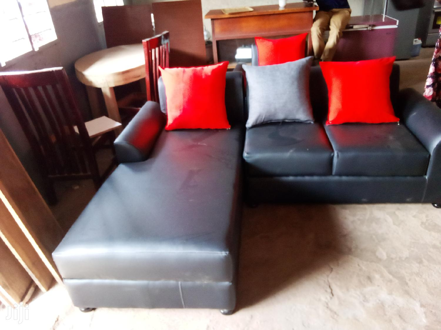 Lether Min L Sofa ( 5 Seaters )