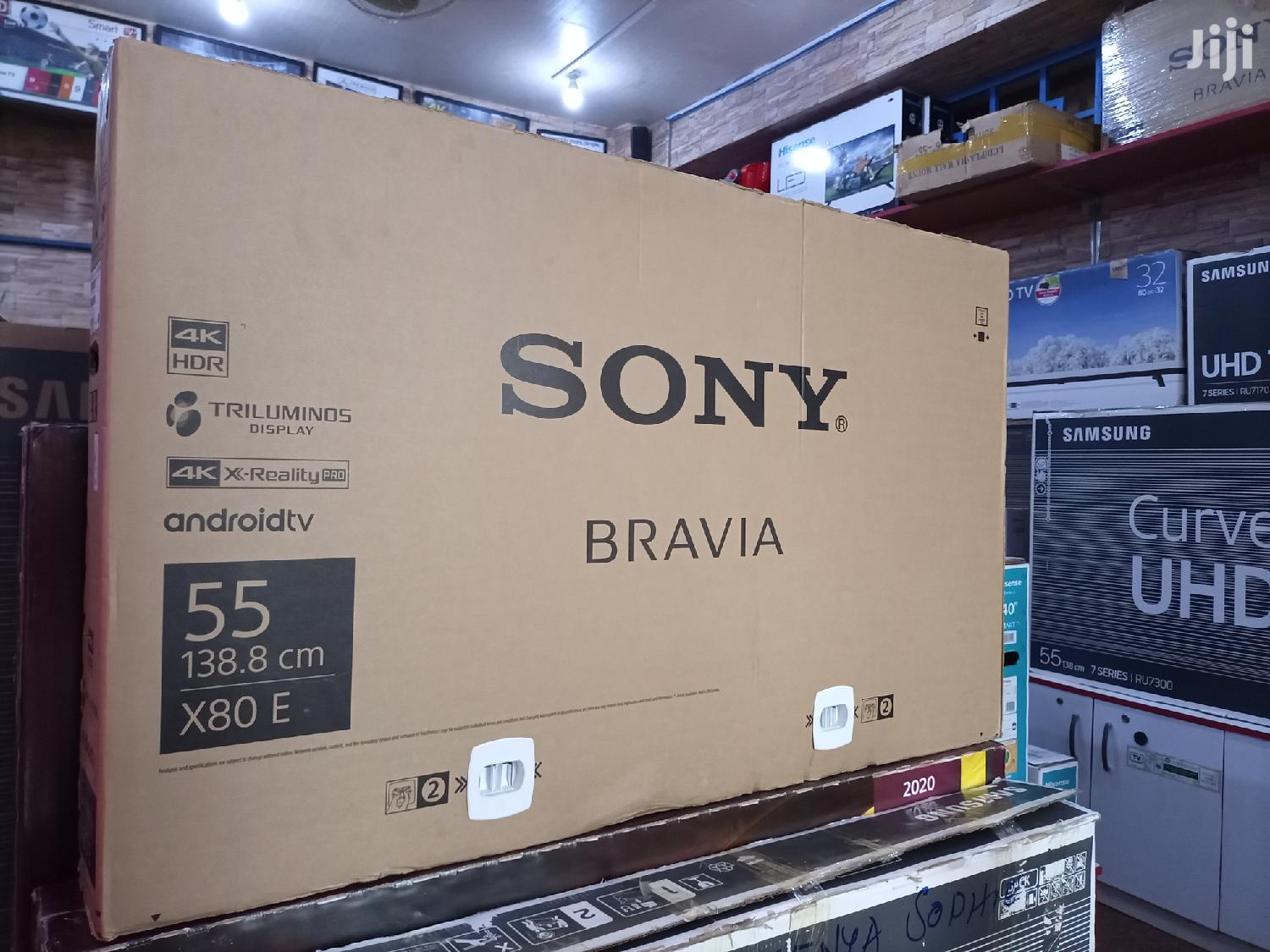 New Sony Bravia Smart Ultra Hd Android Flat Screen TV 55 Inches