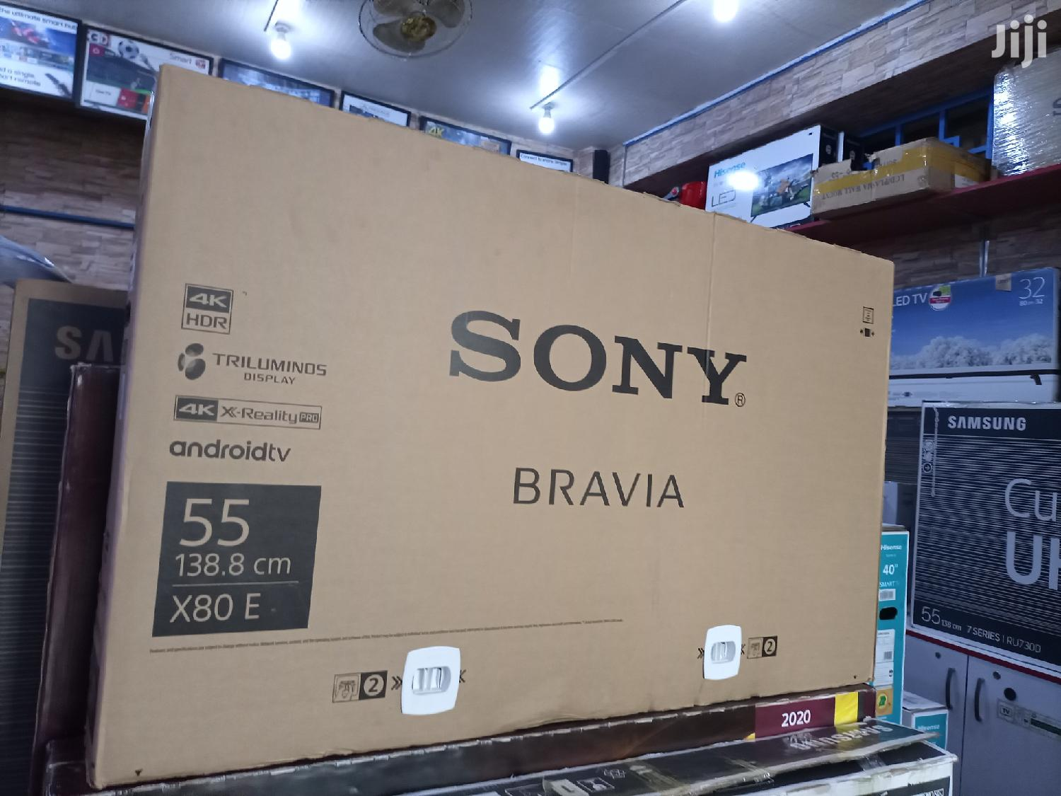 New Sony Bravia Smart Ultra Hd Android Flat Screen TV 55 Inches | TV & DVD Equipment for sale in Kampala, Central Region, Uganda