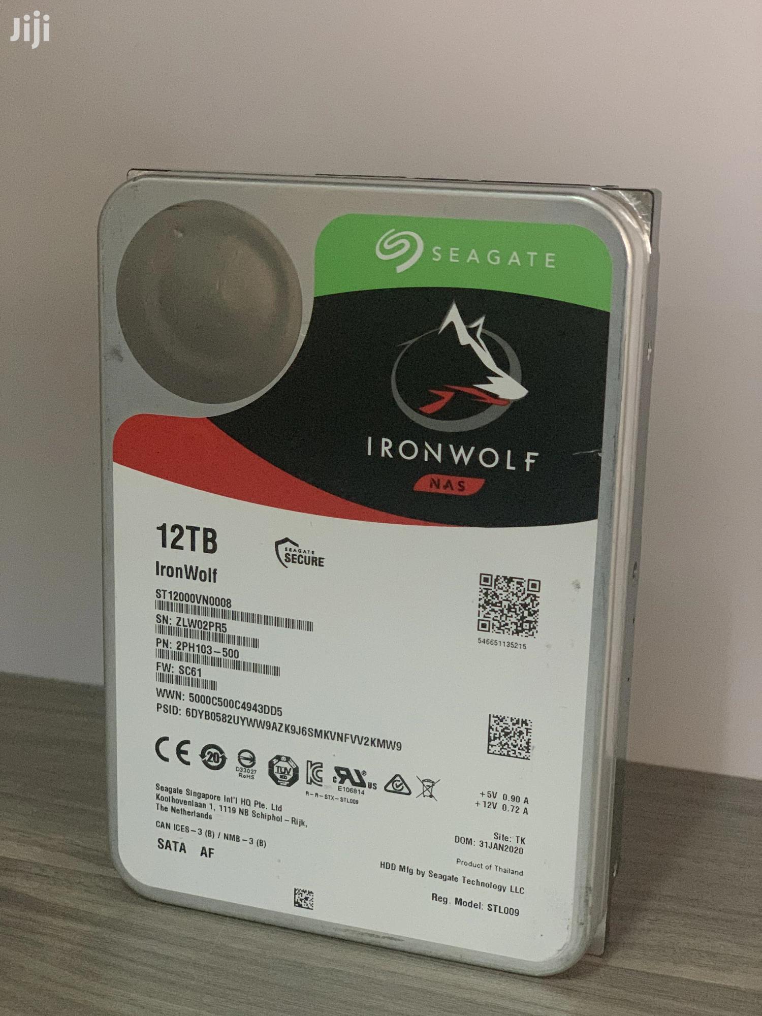 12TB Iron Wolf Seagate Nas Drive   Computer Hardware for sale in Kampala, Central Region, Uganda
