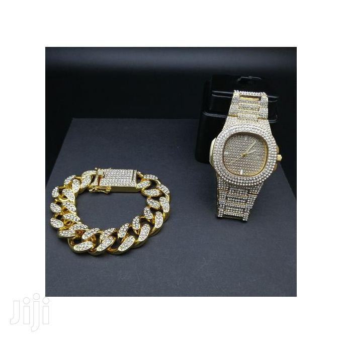 Men's Watch And Bracelet Set