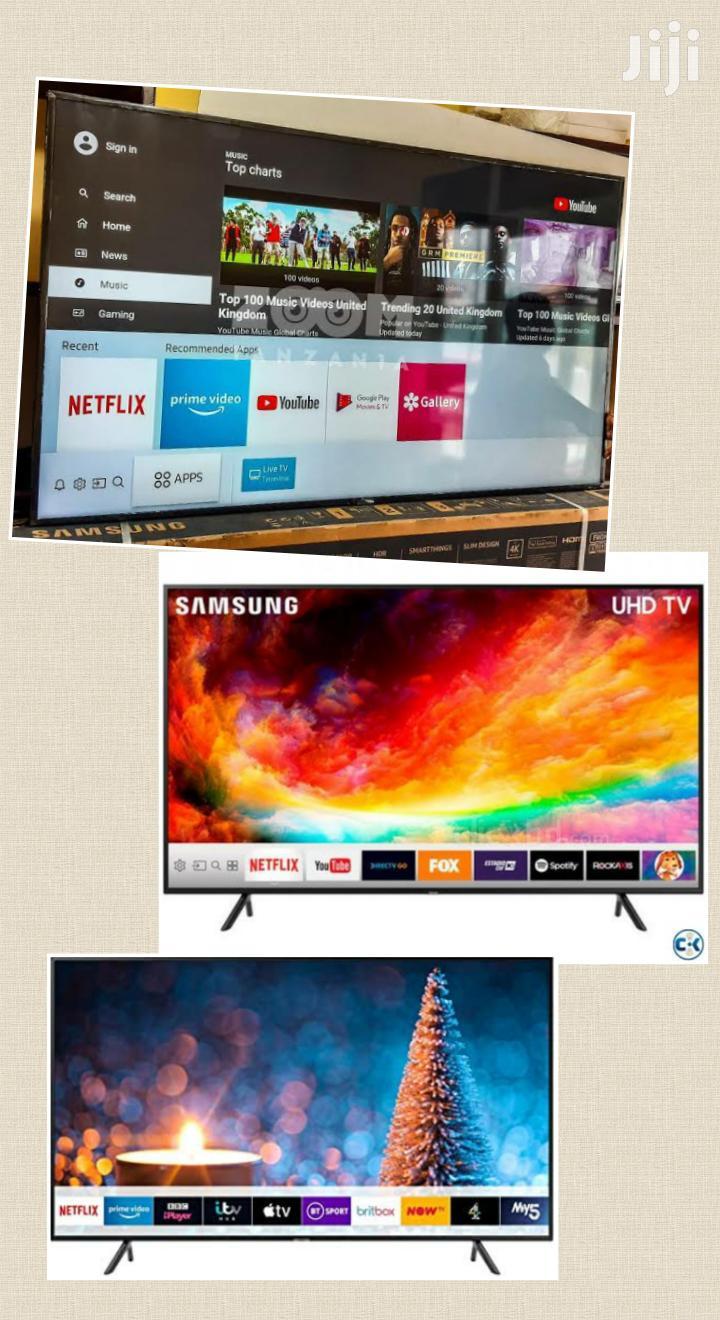 Samsung 75 Inch Smart 4K UHD Flat LED Tvs. Brand New Boxed | TV & DVD Equipment for sale in Kampala, Central Region, Uganda