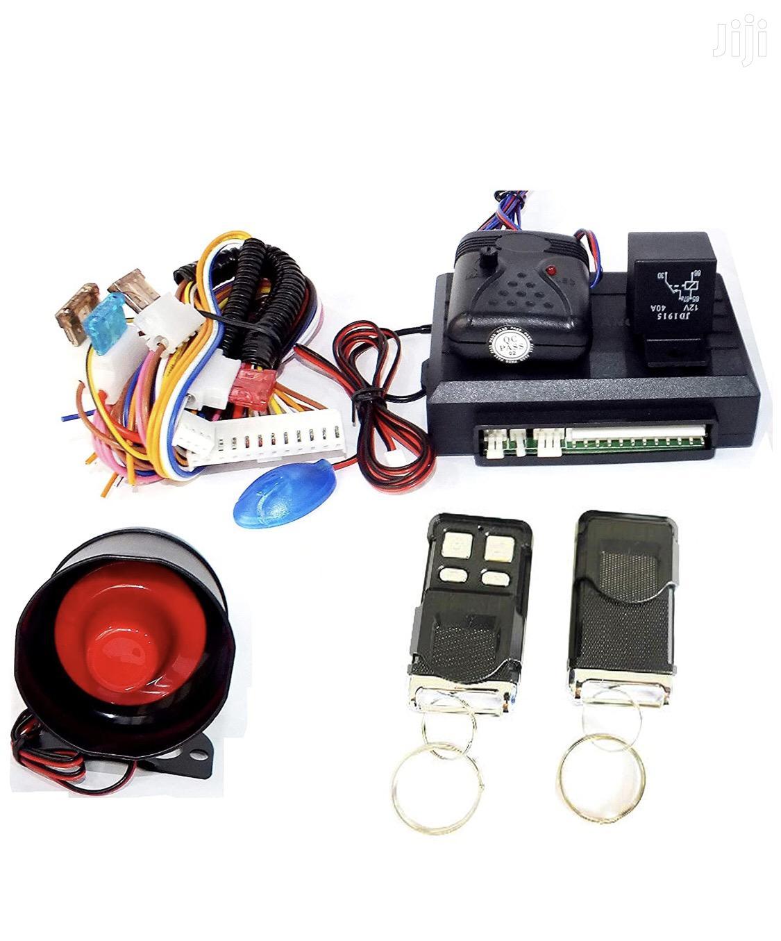 Universal Car Alarm With 2 Remote Control Key