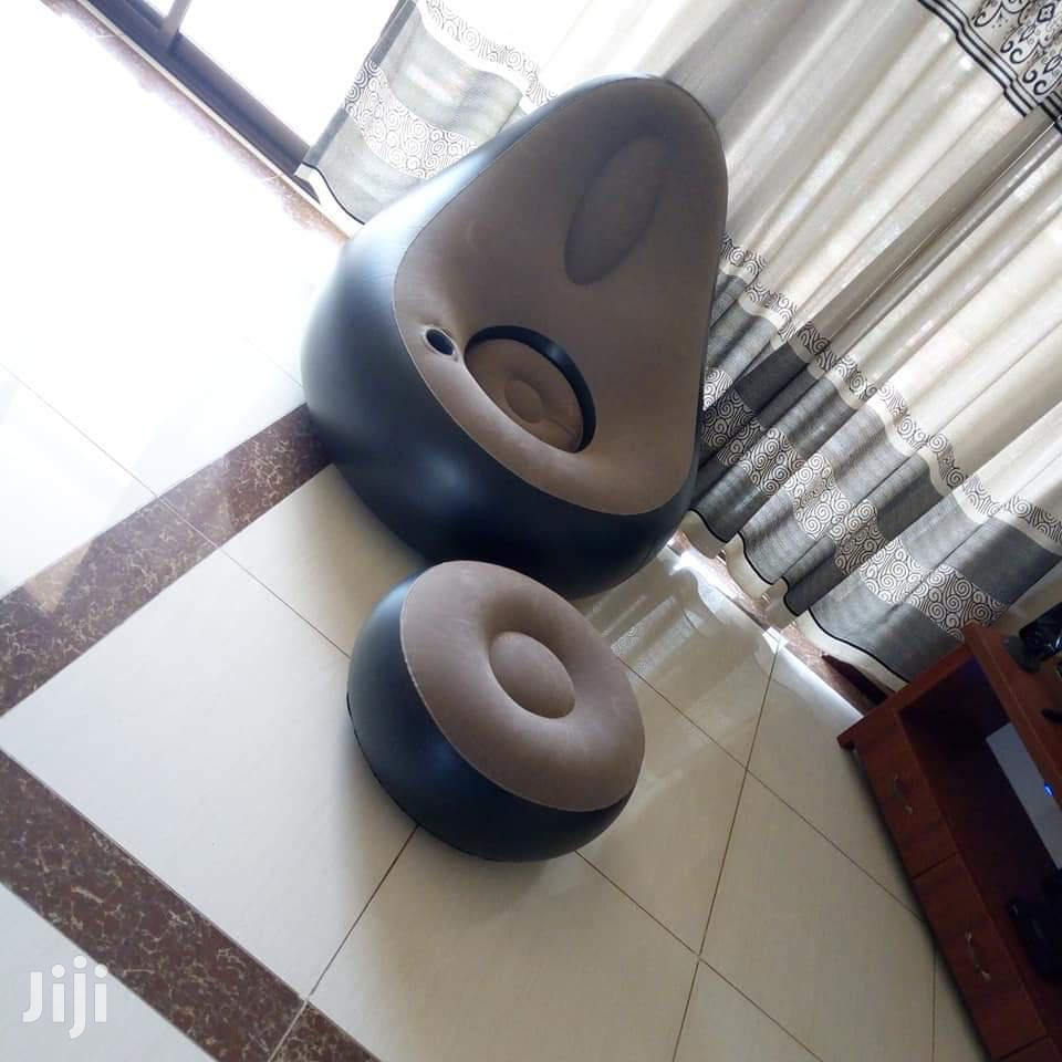 Inflatable Resting Lounge Sofa With Its Footrest and Pump   Furniture for sale in Kampala, Central Region, Uganda