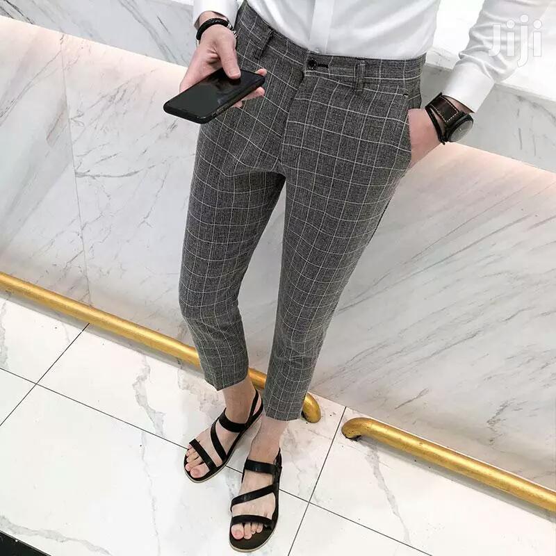 British Style Plaid Suit Pants