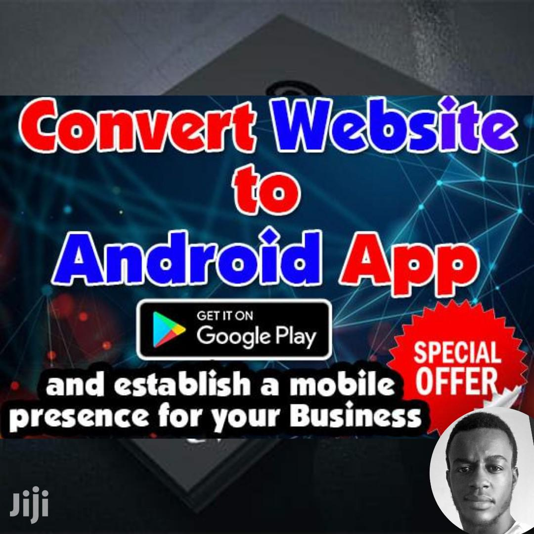 Convert/ Turn Website Into Android App or Ios Application
