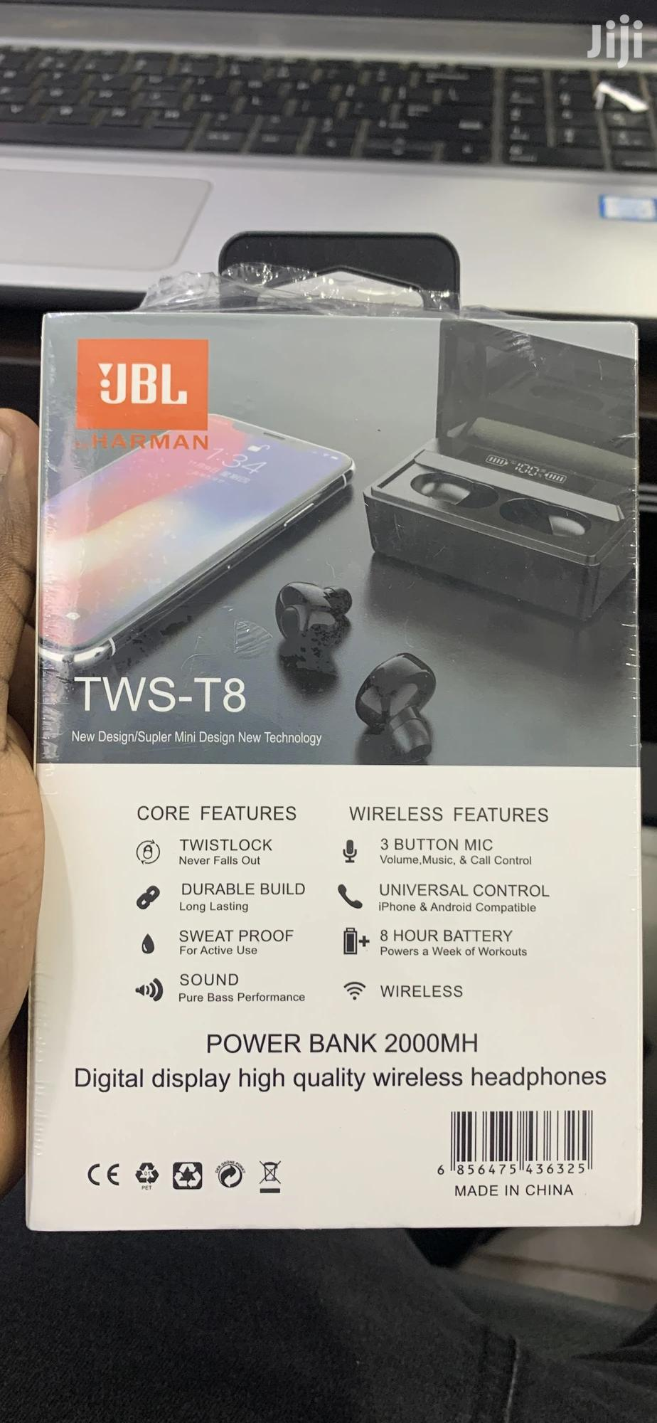 Jbl Tws T8 Earbuds | Headphones for sale in Kampala, Central Region, Uganda