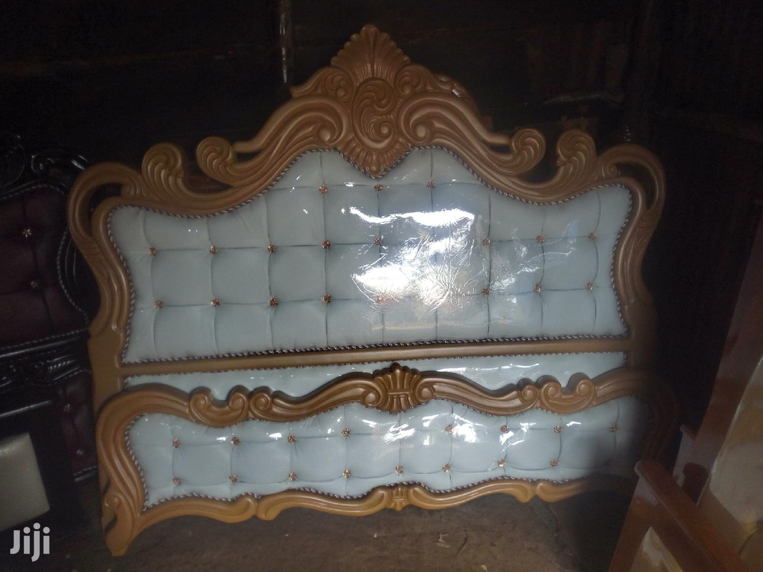 Gold and White Wide Bed 6 by 6