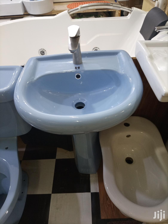 Blue Handwash Basin