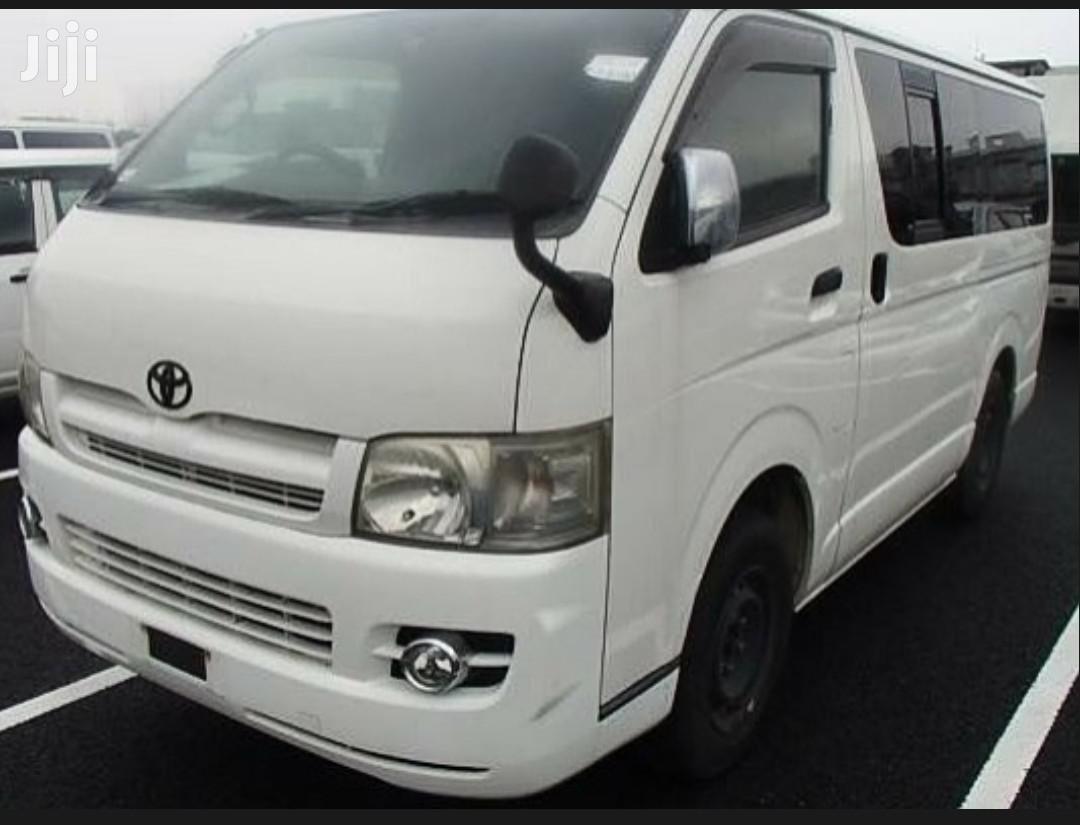 Archive: New Toyota Hiace Van 2005 White