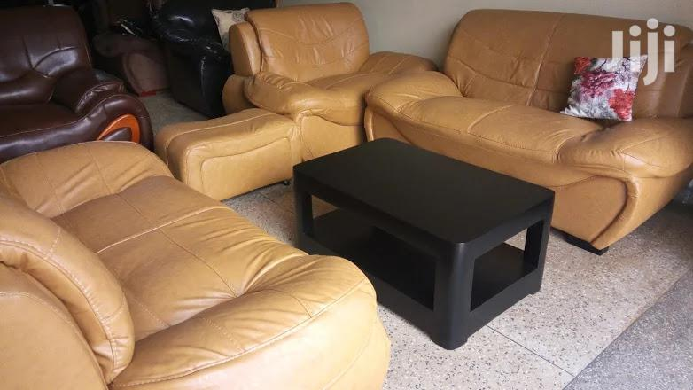 Archive: Leather Sofa Available In 5 Seater (221) Plus An Ottoman
