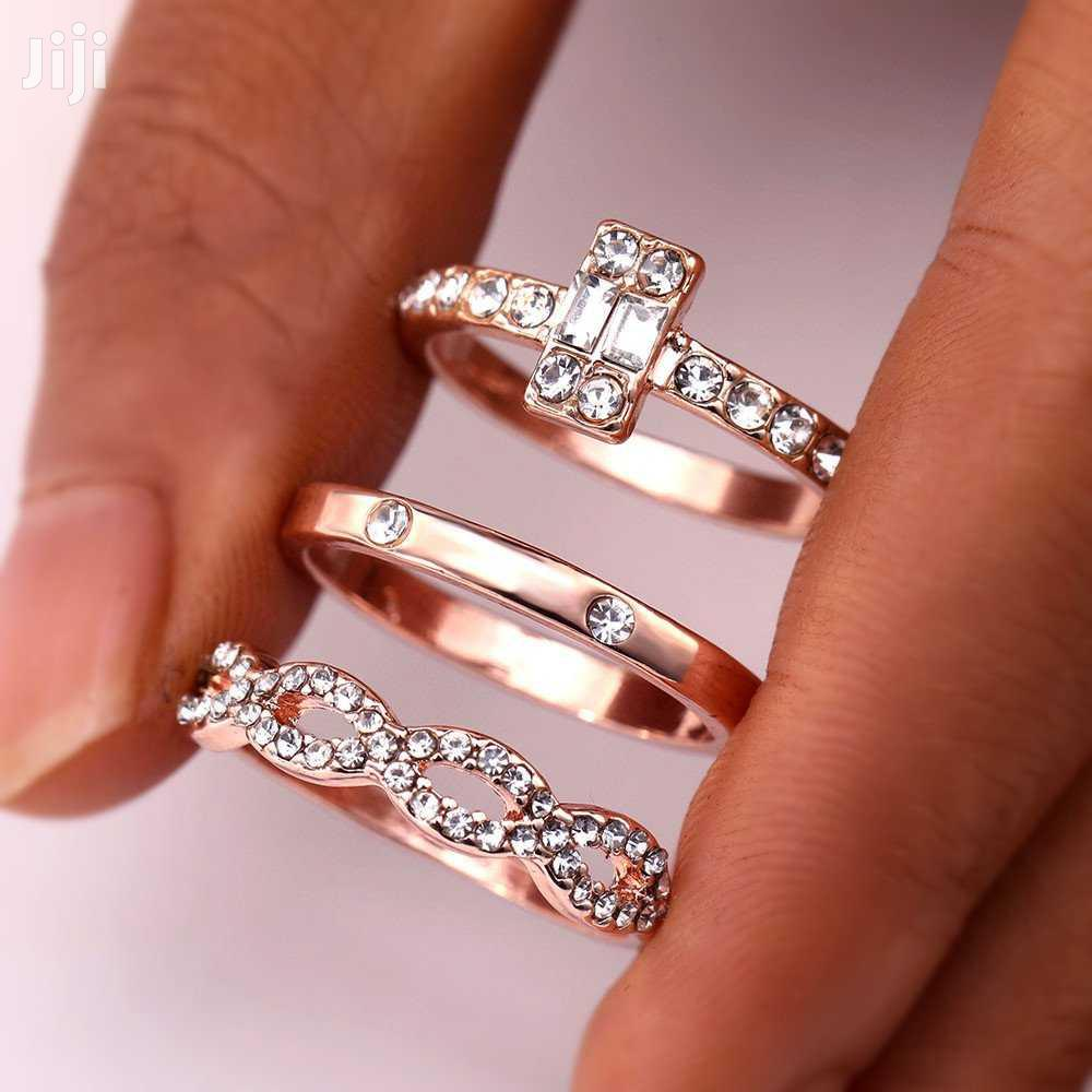 3pcs of Wedding and Engagement Ring With a Box | Wedding Wear & Accessories for sale in Kampala, Central Region, Uganda