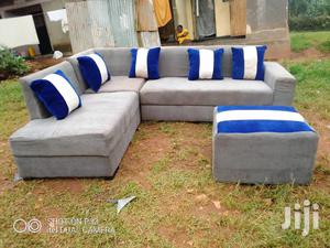L Shaled Gray Sofa 6 Seater   Furniture for sale in Central Region, Kampala