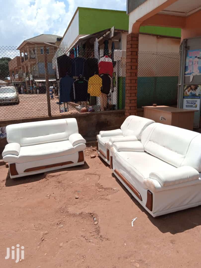 5 Seater White Leather Sofas