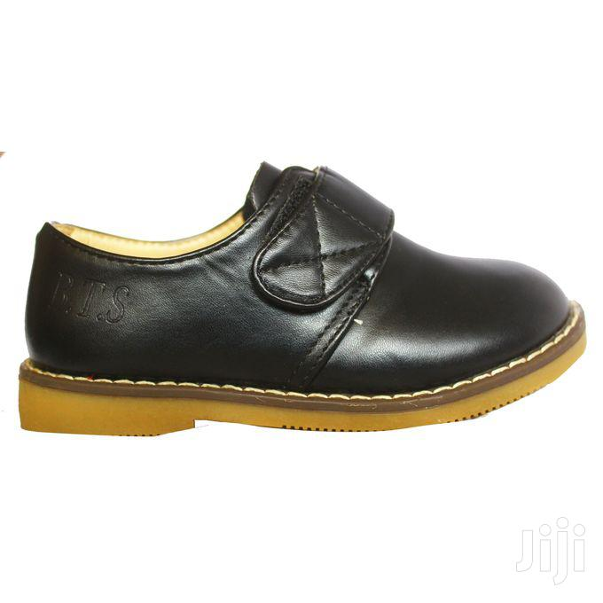 Generic Velcro Strap Leather Shoes for Girls
