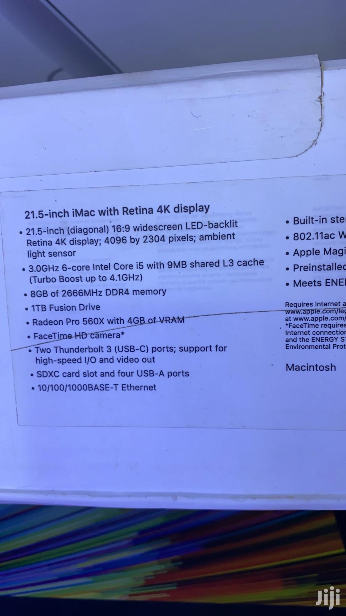New Desktop Computer Apple iMac 8GB Intel Core i5 SSHD (Hybrid) 1T   Laptops & Computers for sale in Kampala, Central Region, Uganda
