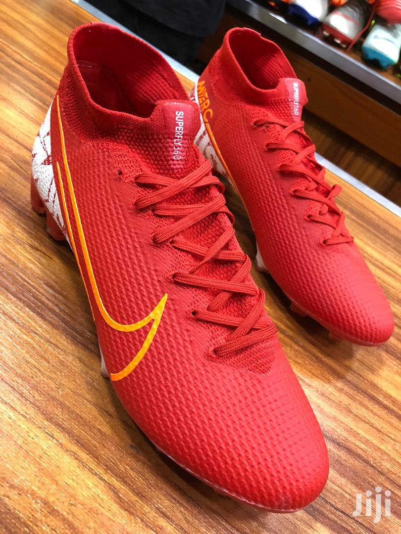 Red Nike Football Shoes