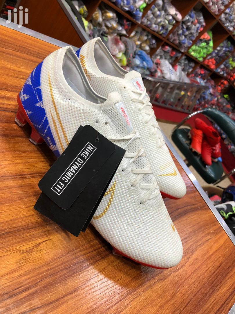 Blue White Merc Nike Football Shoes
