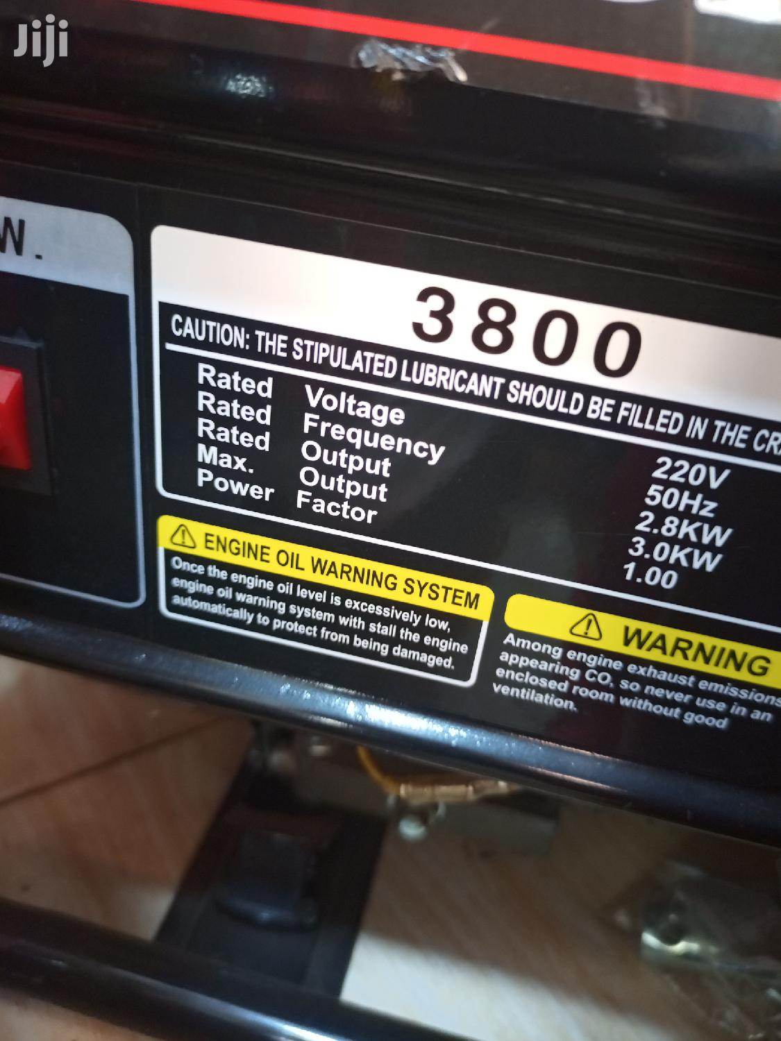 Gasoline Generator 3KW Output - Free Delivery | Electrical Equipment for sale in Kampala, Central Region, Uganda