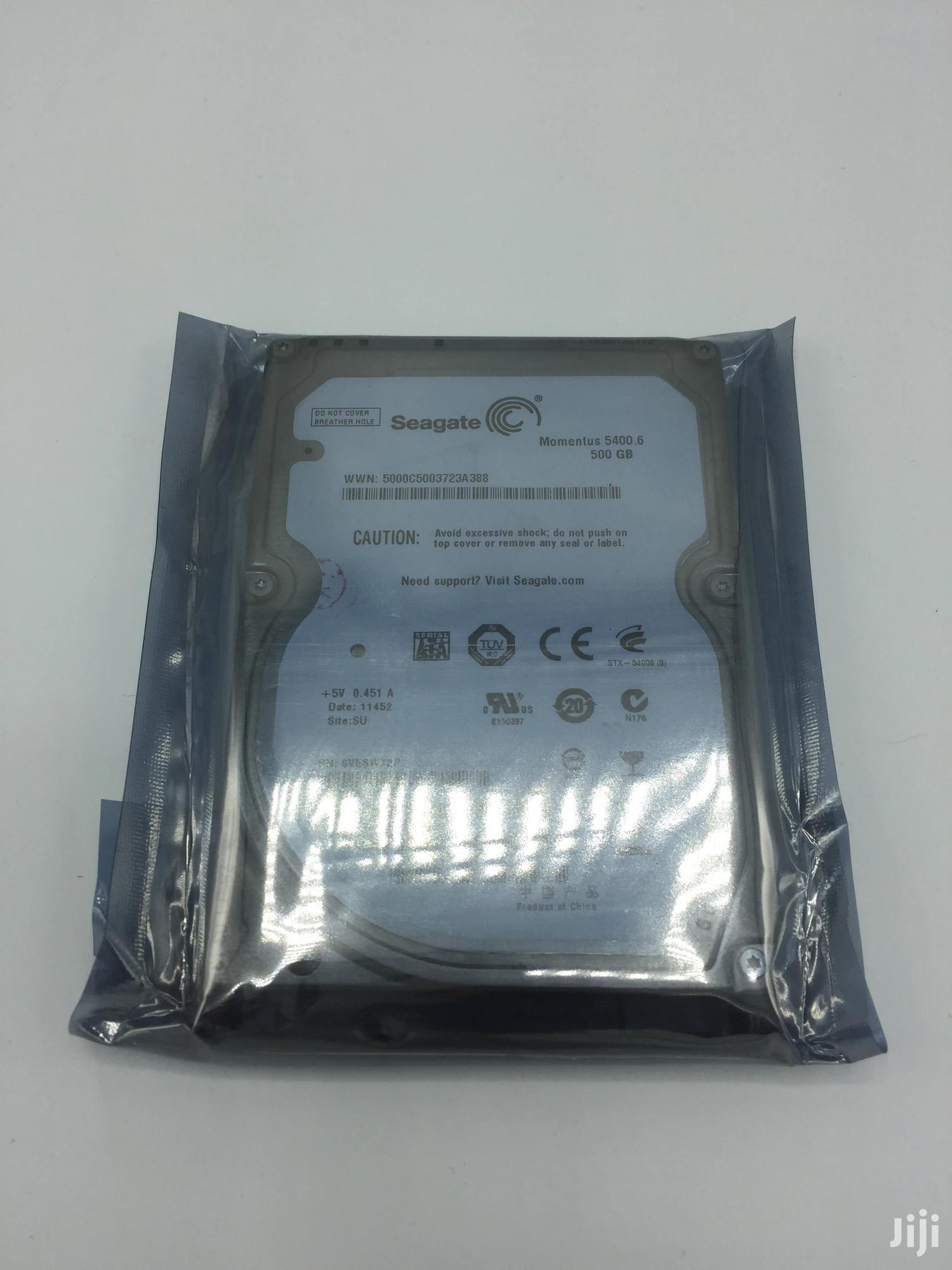Archive: Seagate Internal Laptop 500GB Hard Drive