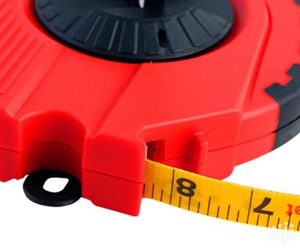 Geepas Strong Red & Black Fibre Measuring Tape 50meters | Measuring & Layout Tools for sale in Kampala, Central Region, Uganda