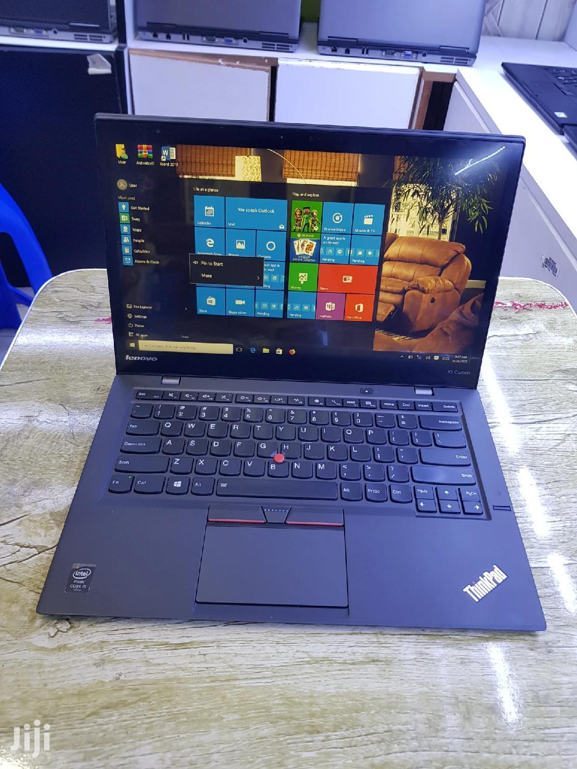 Laptop Lenovo ThinkPad X1 Carbon 8GB Intel Core I5 SSD 256GB | Laptops & Computers for sale in Kampala, Central Region, Uganda