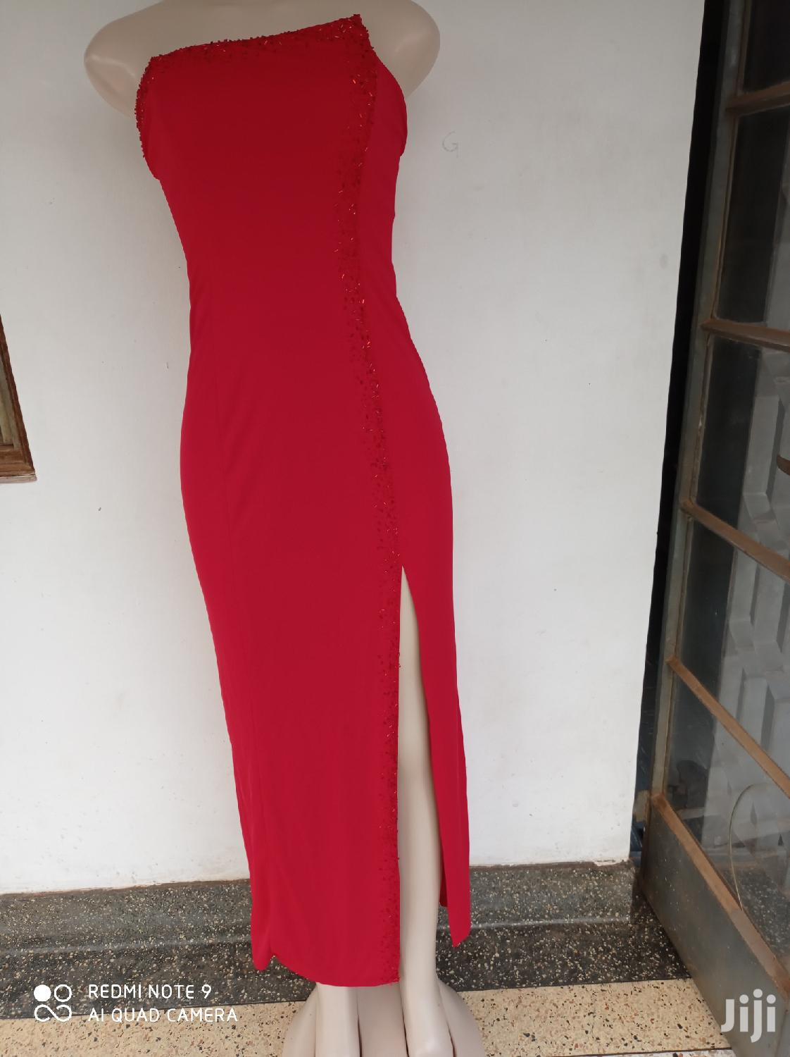 Party Dress With Side Slit.
