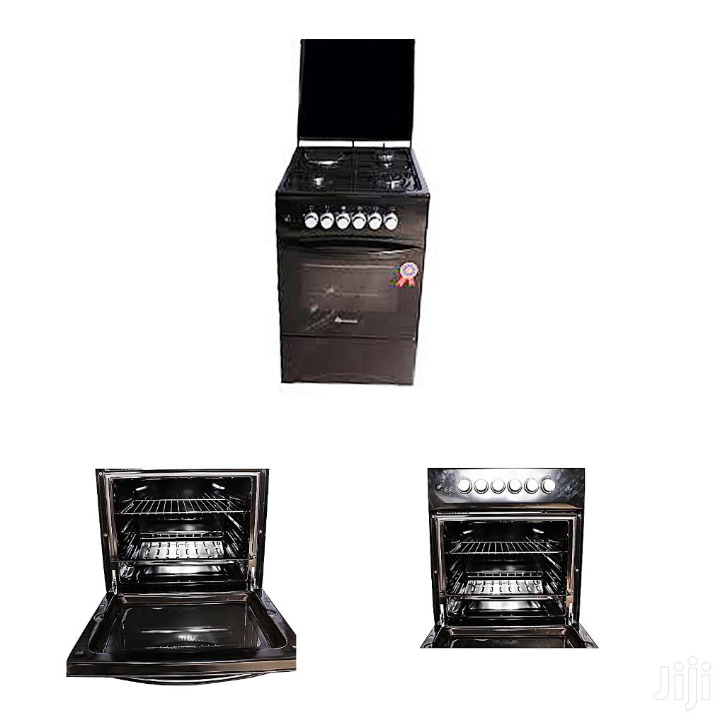 50 X 50 Cm Full Gas Cooker And Oven Blue Flame Black New