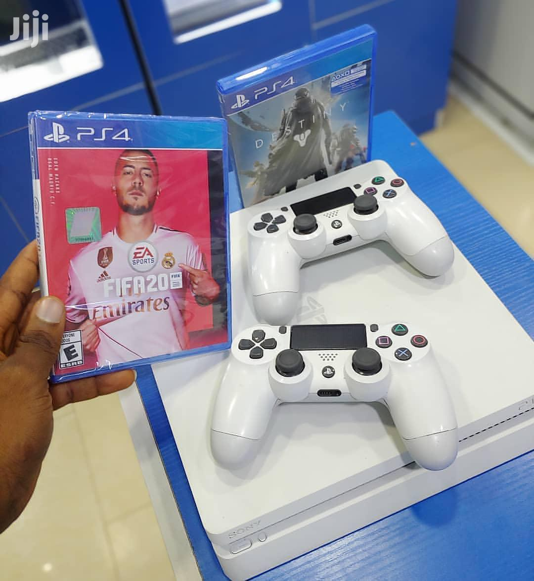Brand New Playstation 4 Slim With 2 Controllers and Fifa 20