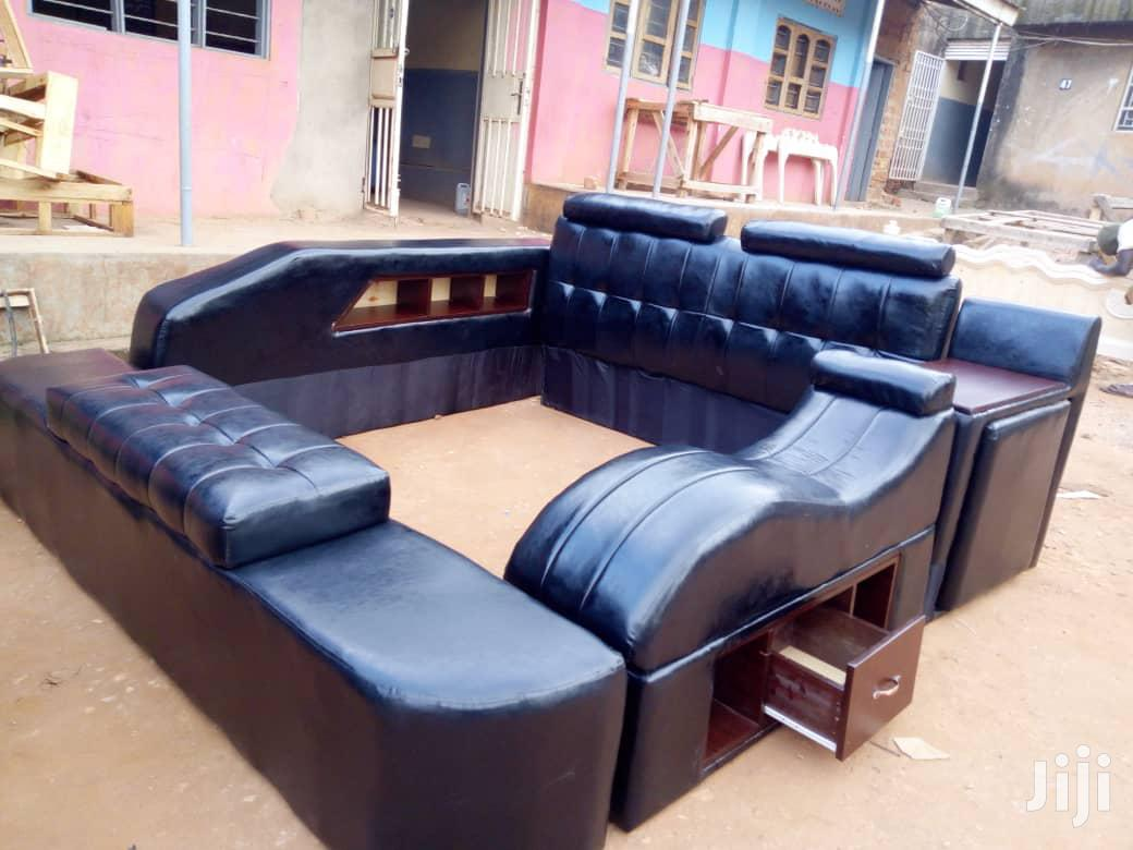 6 by 6 Leather Bed