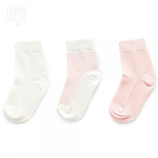 A Packet Of Three Baby Body Socks