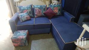 L Shape Sofa Blue   Furniture for sale in Central Region, Kampala