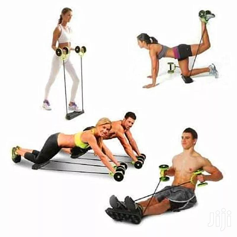 Double-wheeled Power Roll Ab Trainer & Full Body Workout | Sports Equipment for sale in Kampala, Central Region, Uganda