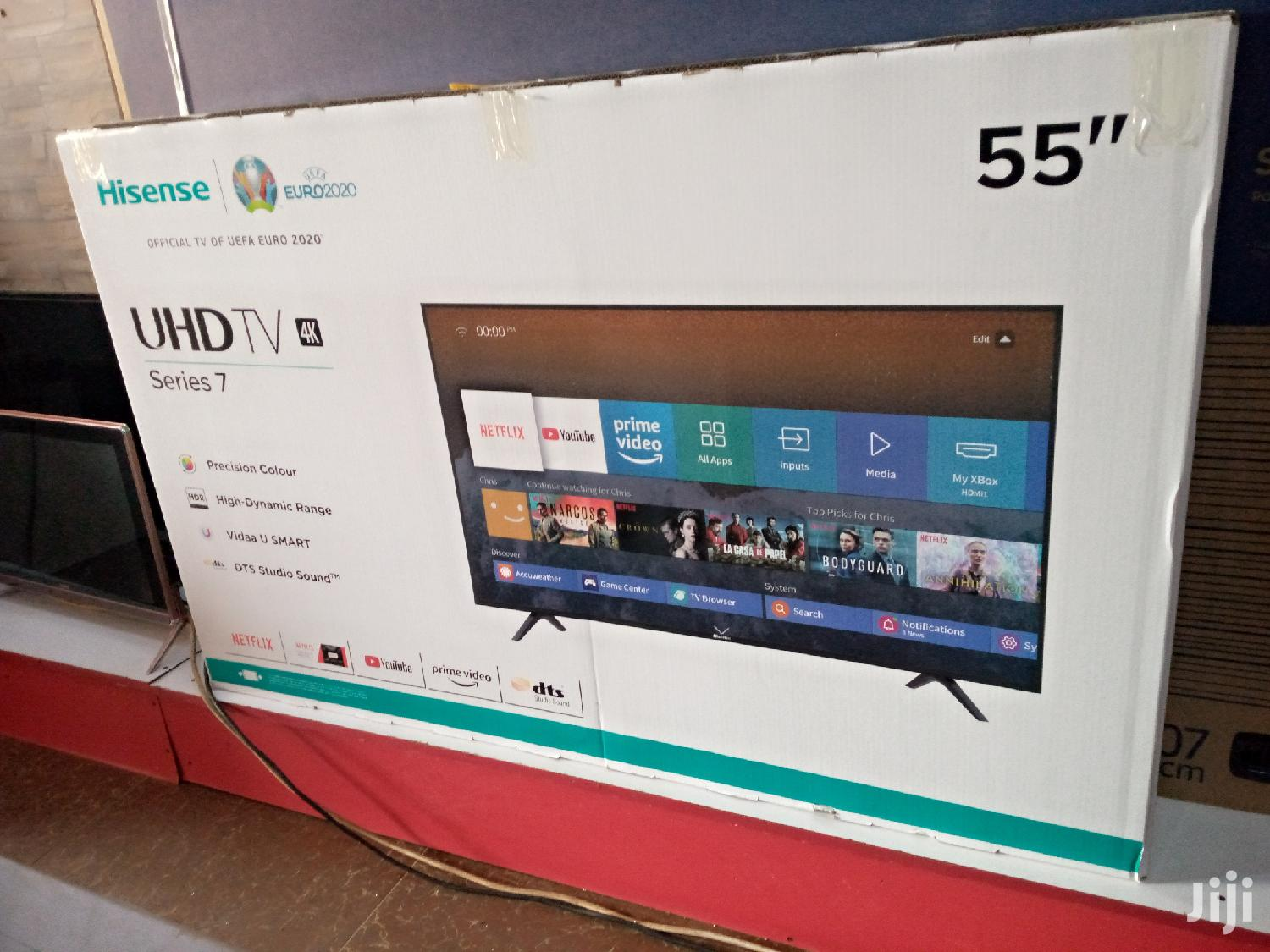 "Brand New Hisense 55"" Inches Smart Android UHD 4k TV"