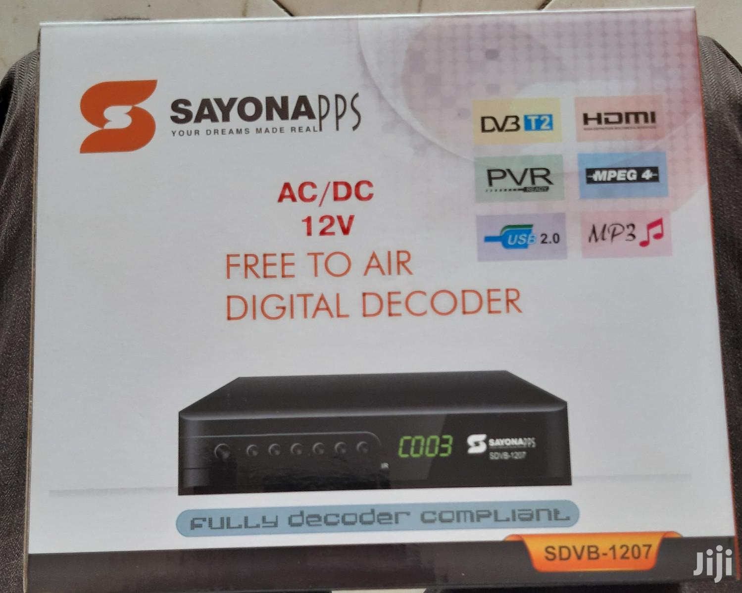 Archive: Sayona Free To Air Decoder
