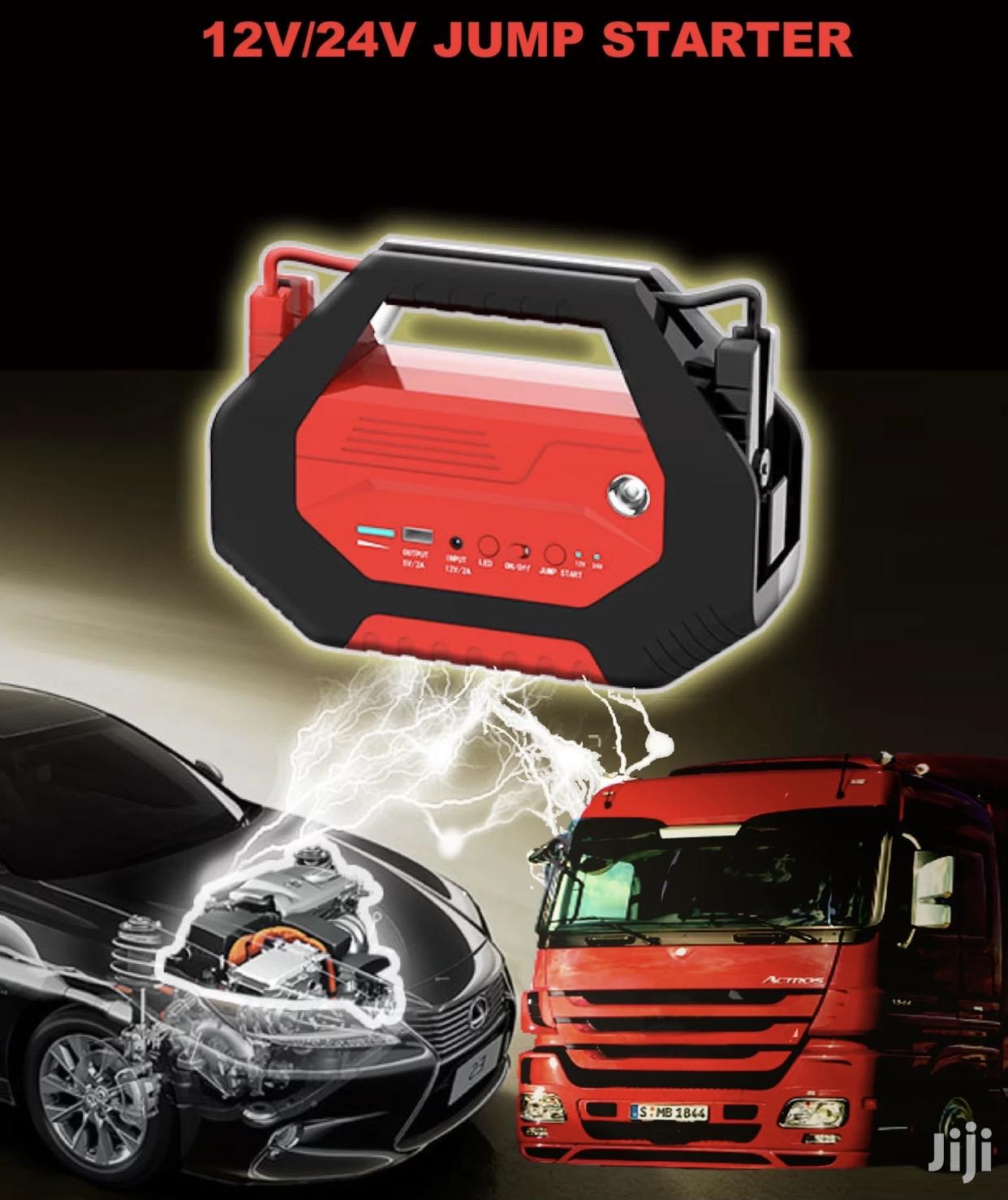 High Power Emergency Jump Starter 12/24V For All Car Sizes.