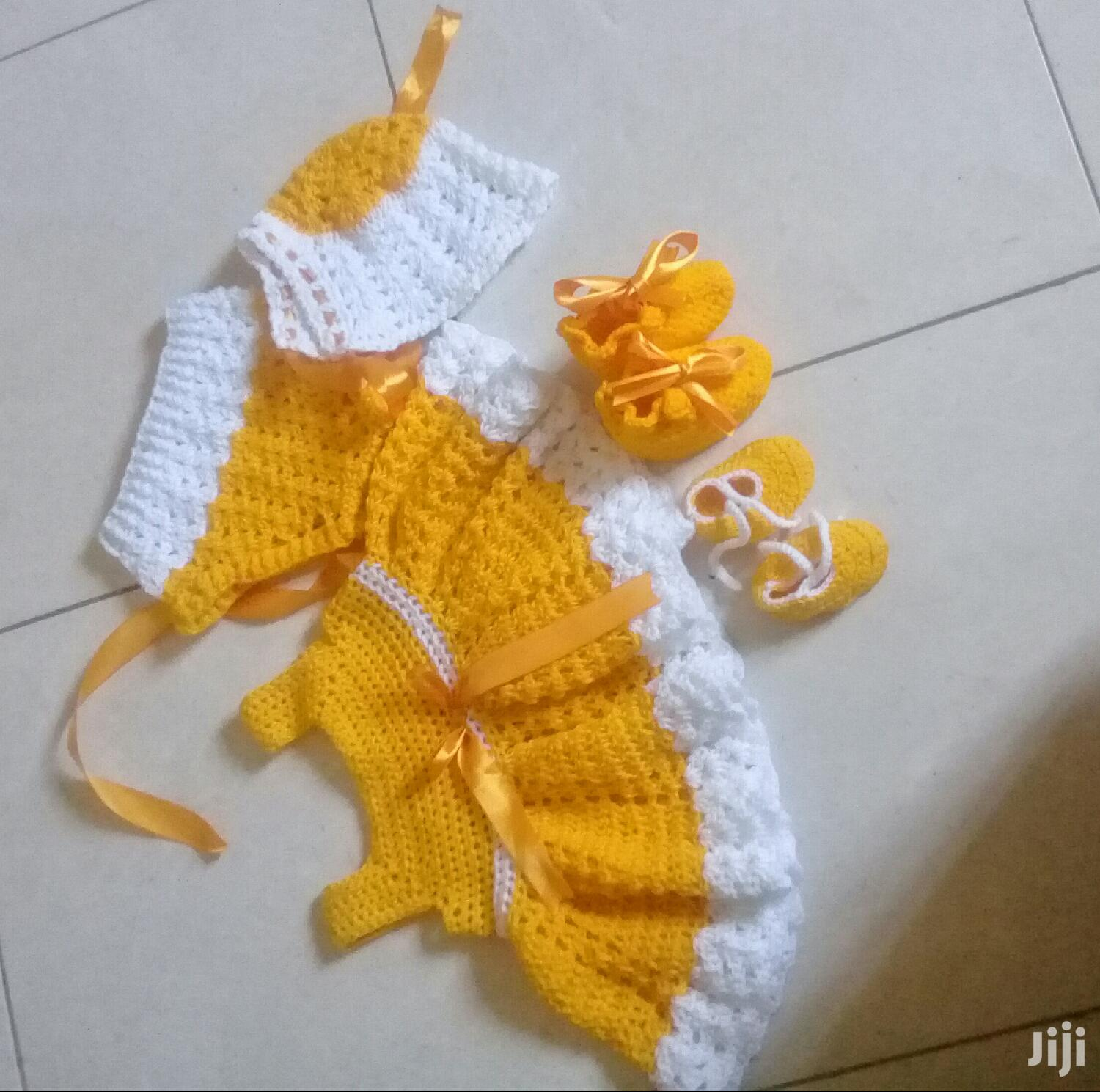 Archive: Baby Girl Chrochet Dress, Hat , Booties , and Diaper Cover