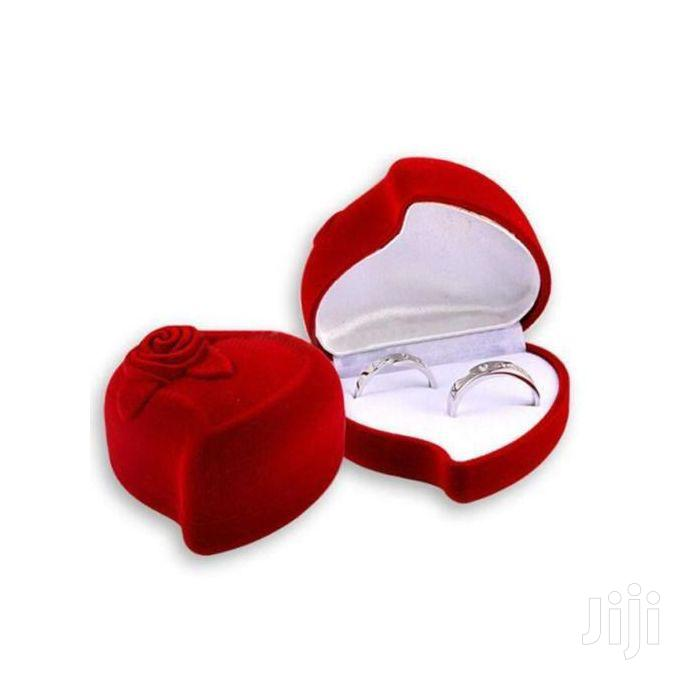 Heart Shaped Engagement Ring Box Without The Ring | Wedding Wear & Accessories for sale in Kampala, Central Region, Uganda