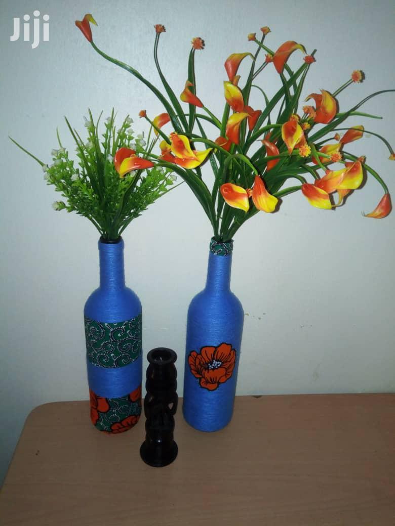Paired Art Bottle Flower Vases