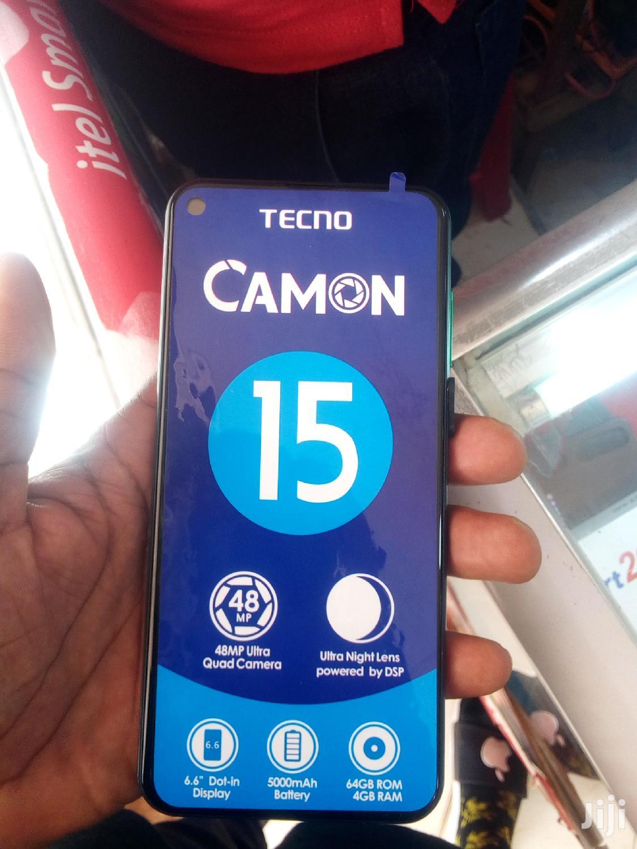 New Tecno Camon 15 64 GB Black   Mobile Phones for sale in Kampala, Central Region, Uganda