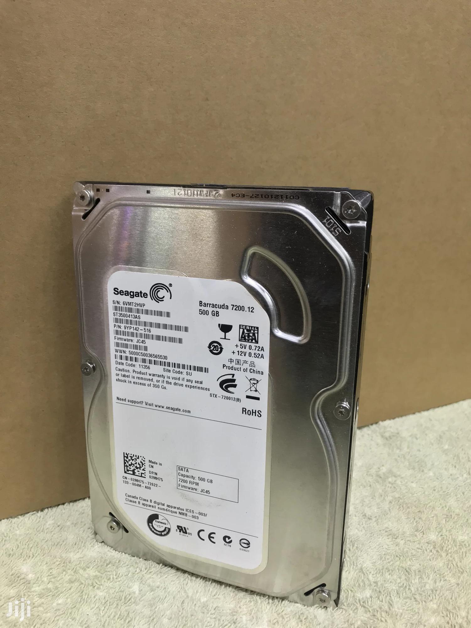 Archive: Seagate 500GB Hard Drive