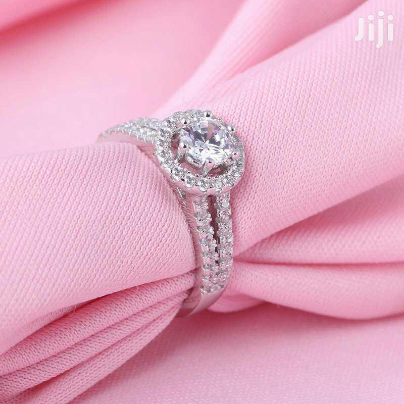 Pure Silver Engagement Ring